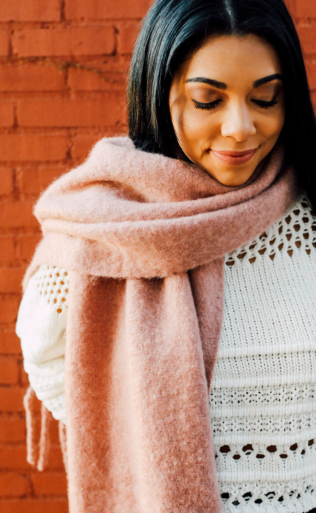 anchorage knit scarf - mauve