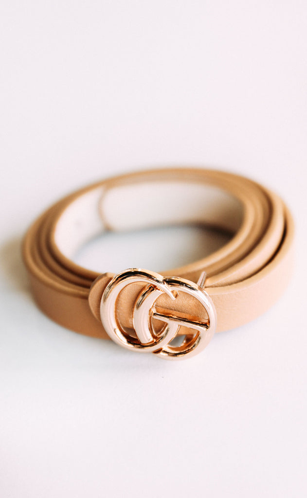linked up belt - beige