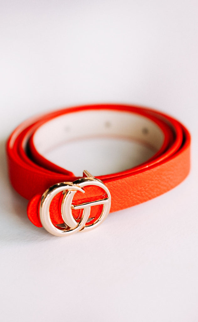 linked up belt - red