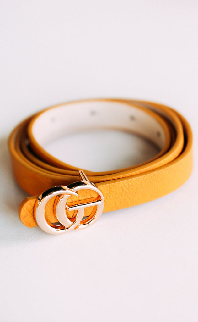 linked up belt - mustard