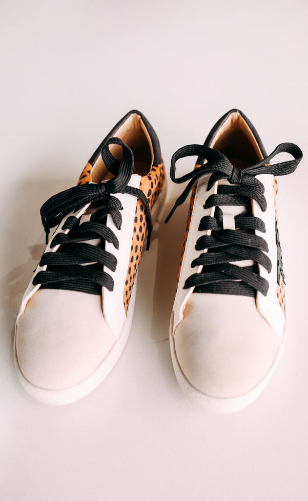star player printed sneaker - cheetah