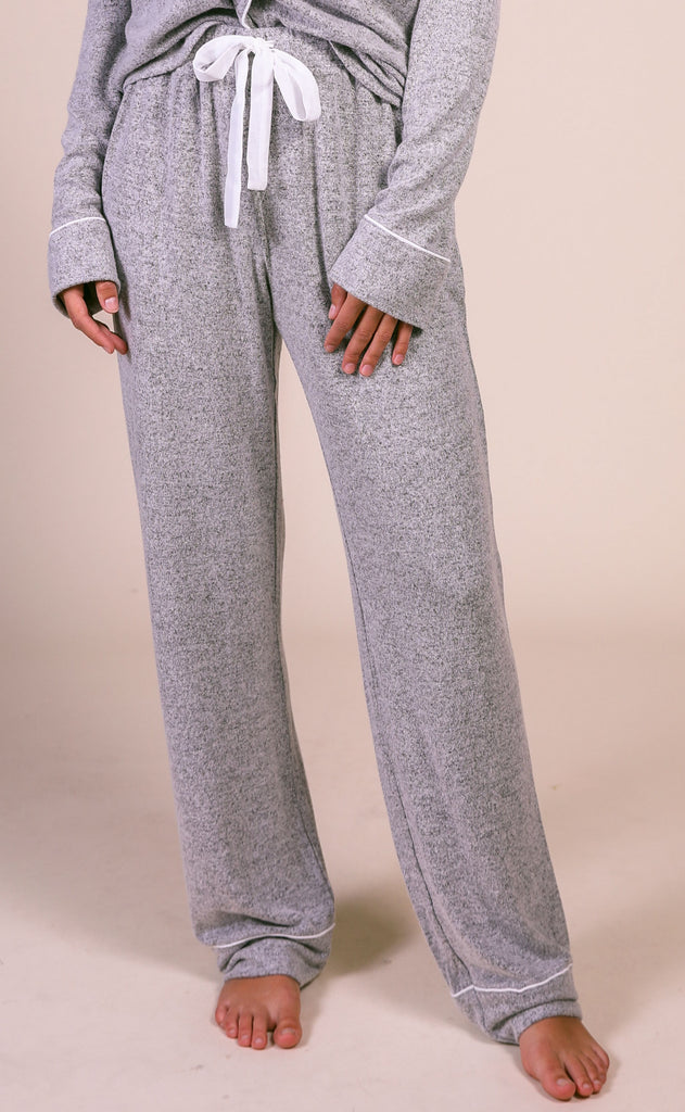 z supply: the menswear pajama pant - heather gray