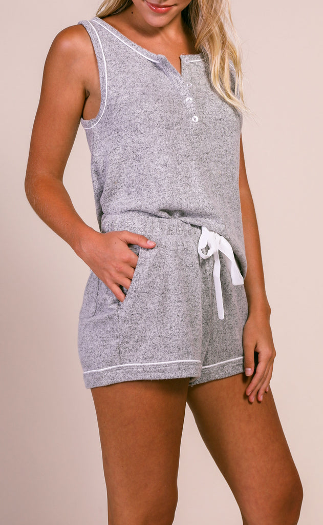 z supply: the menswear pajama short - heather gray