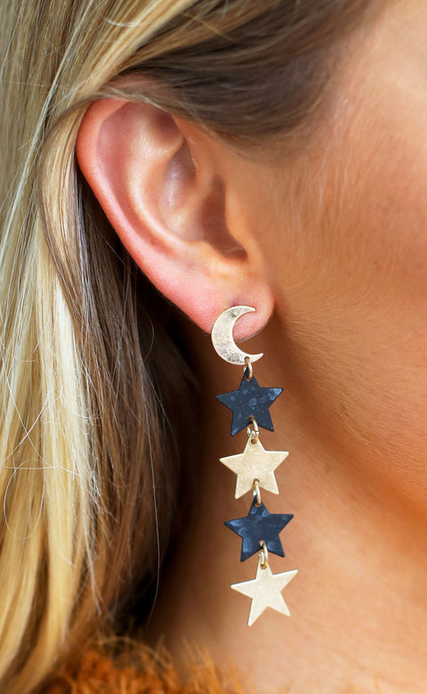 night sky statement earrings