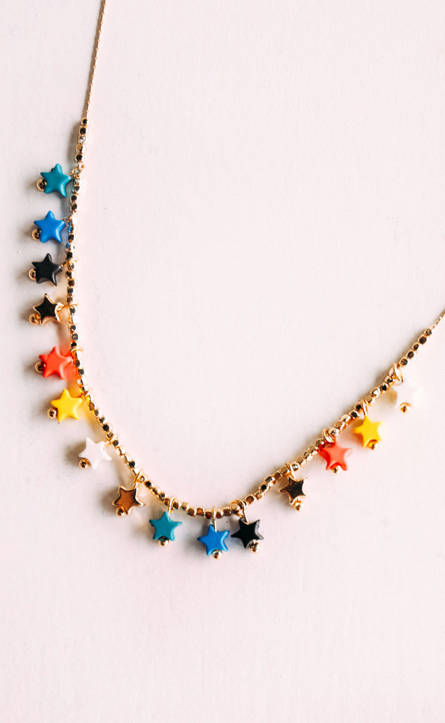 disco fever necklace - primary multi
