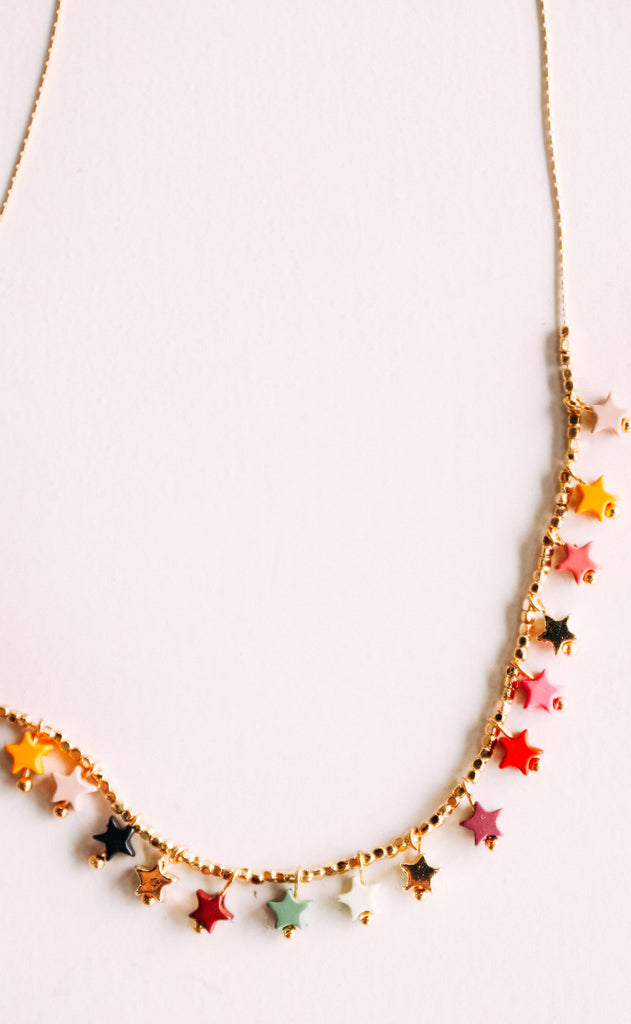 disco fever necklace - sunset multi