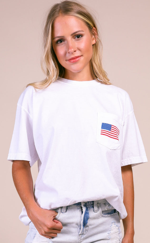 friday + saturday: america pocket t shirt