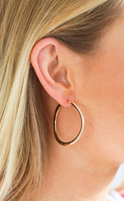 oh so classic hoop earrings