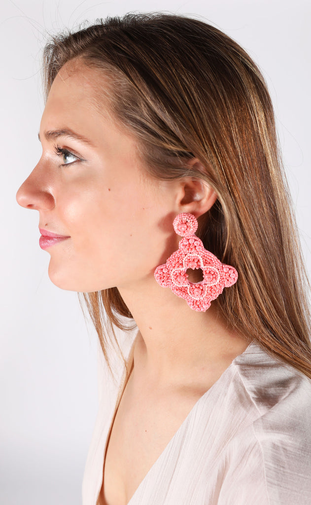cartagena earrings - pink