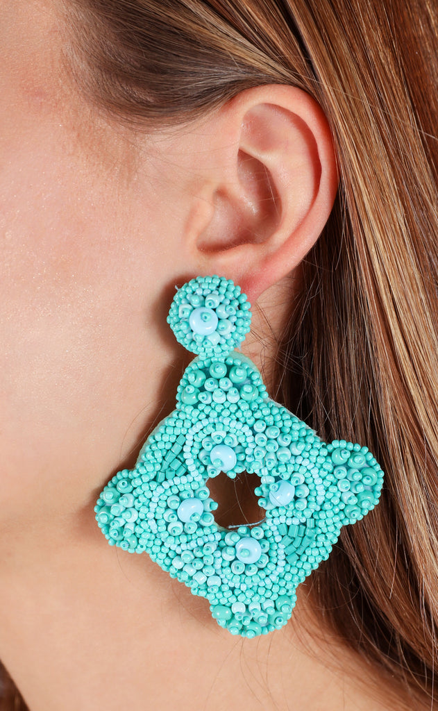 cartagena earrings - turquoise