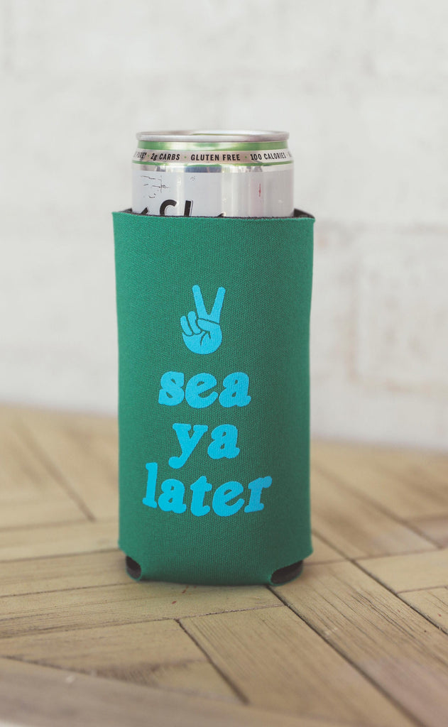 friday + saturday: sea ya later skinny drink sleeve [set of 4]