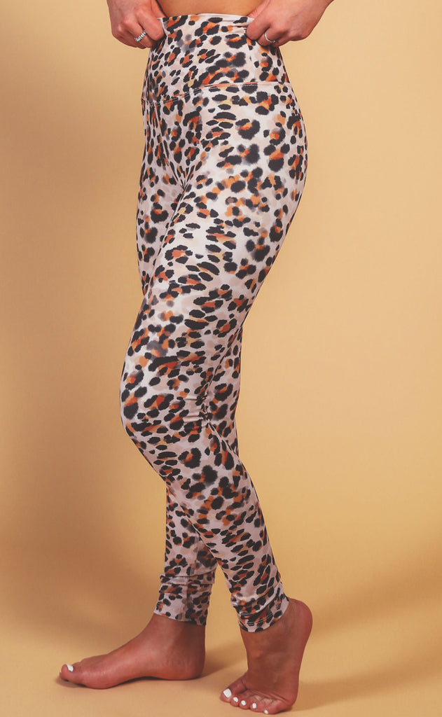 beach riot: piper legging - watercolor leopard