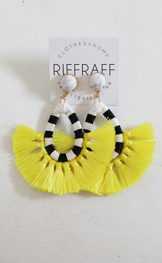 fantastic statement earring - yellow