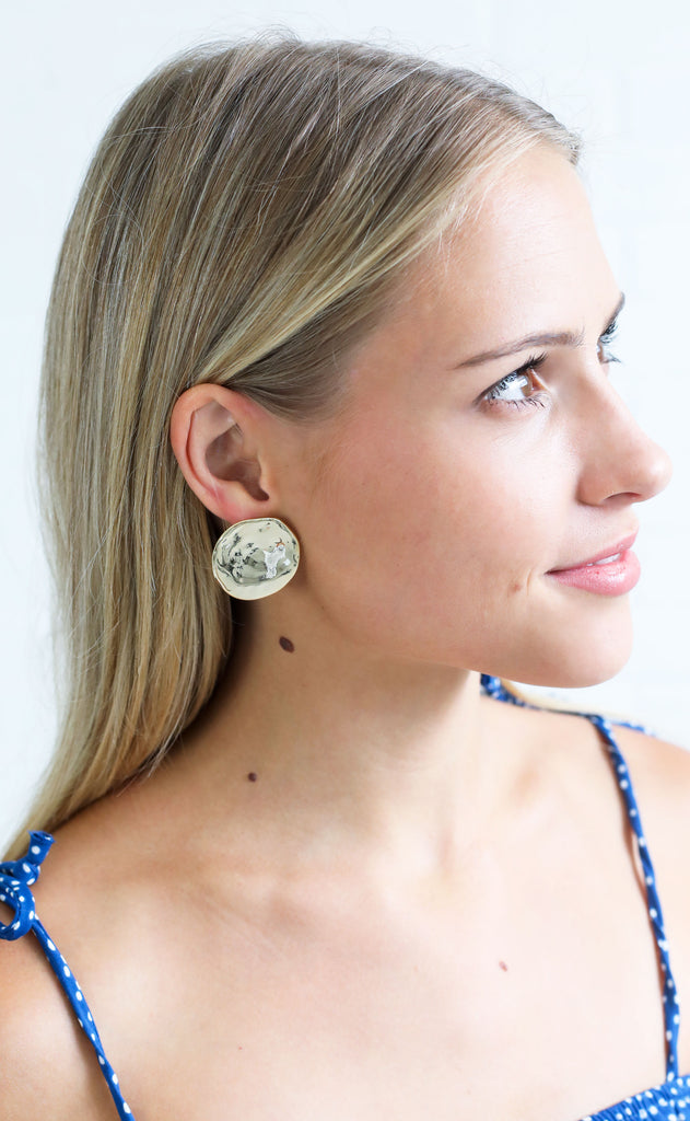 on the dot statement earrings