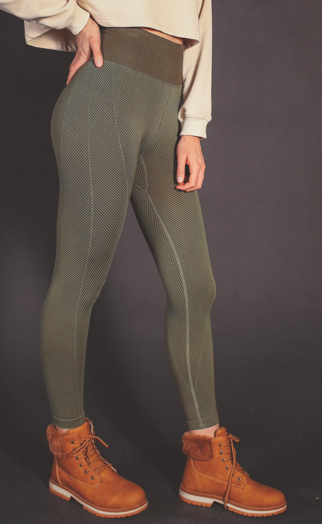 free people movement: high rise rewind leggings - army