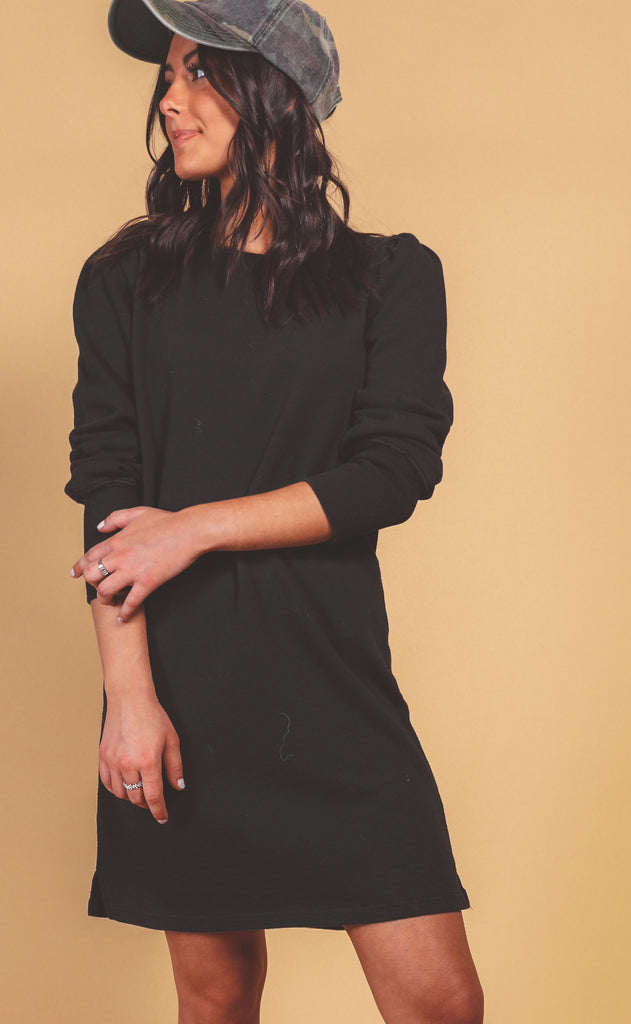 z supply: kyra terry dress - black