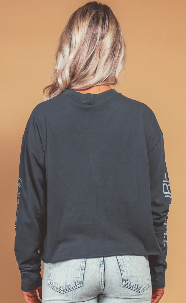 daydreamer: oversized long sleeve crop - boys don't cry
