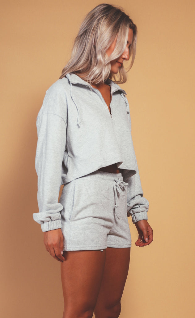 on the go two piece set - grey