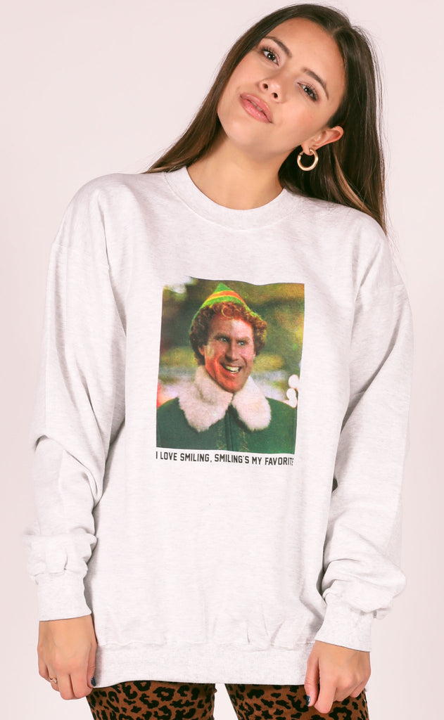 friday + saturday: i love smiling sweatshirt