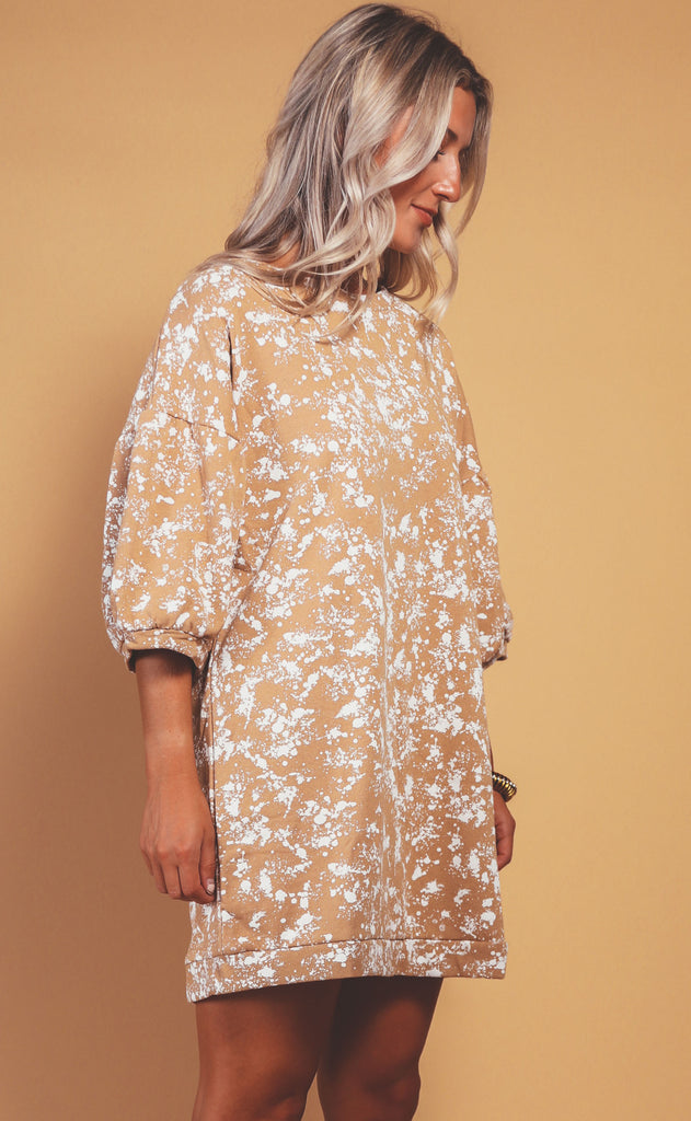 splatter sweatshirt dress