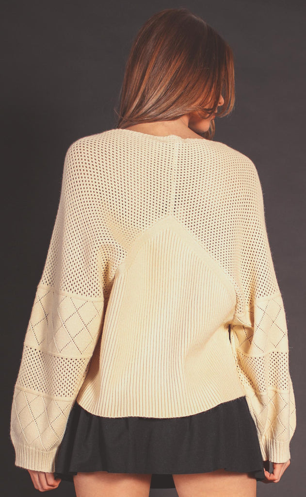 geo crochet sweater