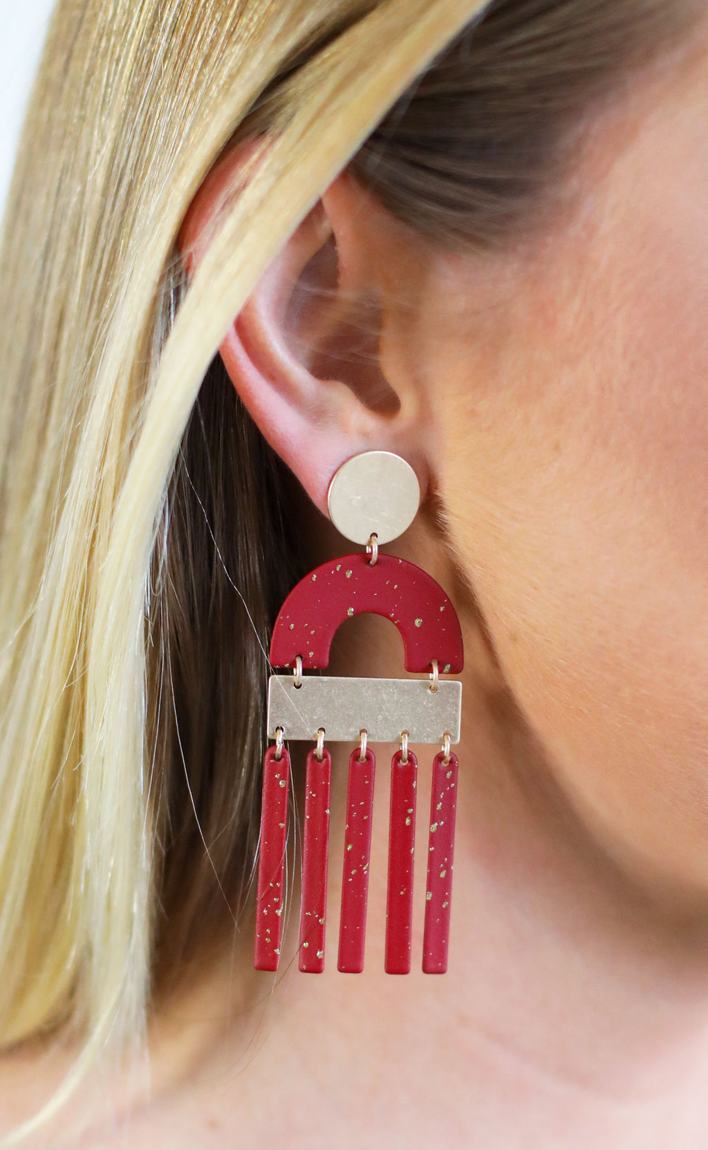 seeing shapes statement earrings