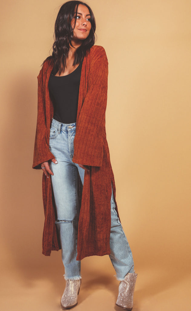 holiday duster cardigan