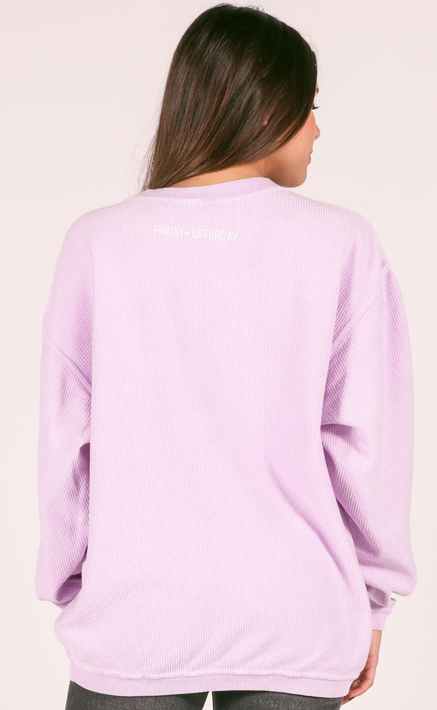 friday + saturday: weekend corded sweatshirt