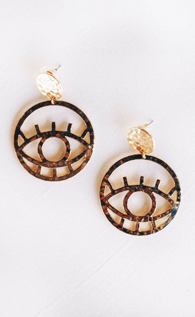 evil eye statement earring