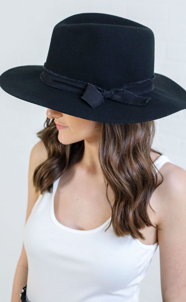 top it off felt hat - black