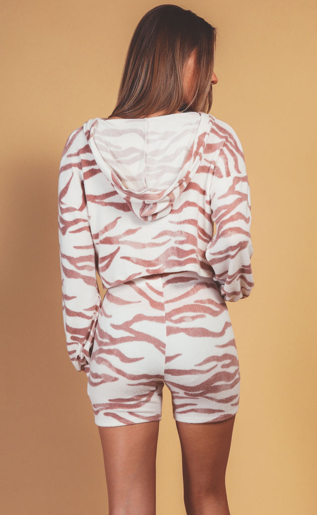 safari cozy two piece set - rust