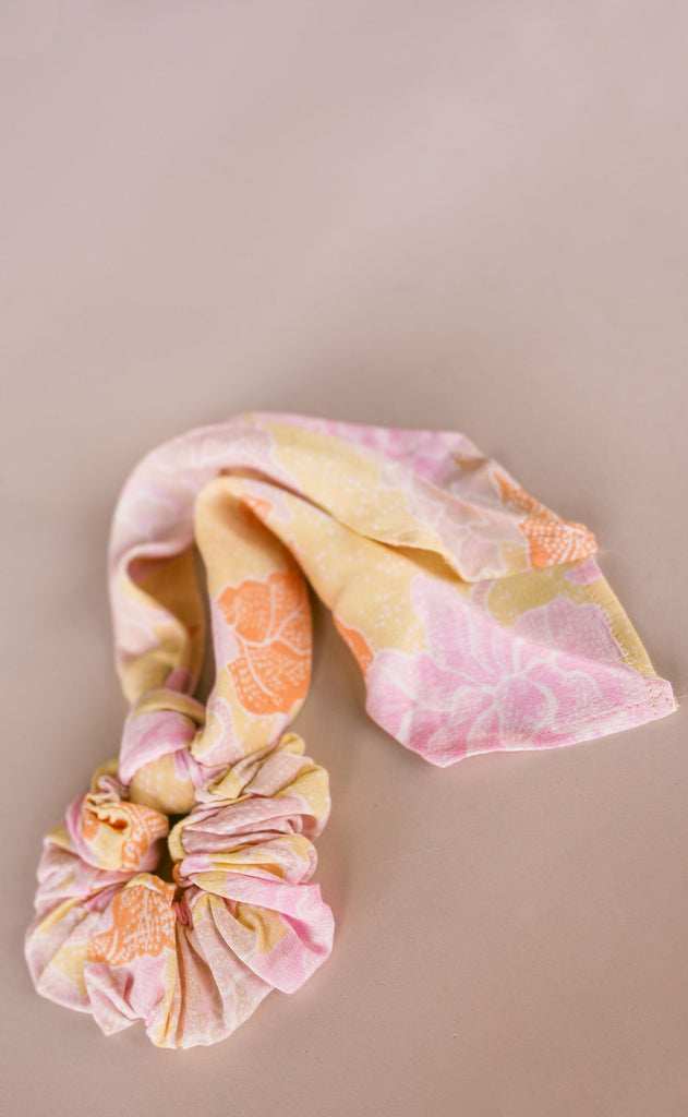amuse society: swept away scrunchie scarf - bone