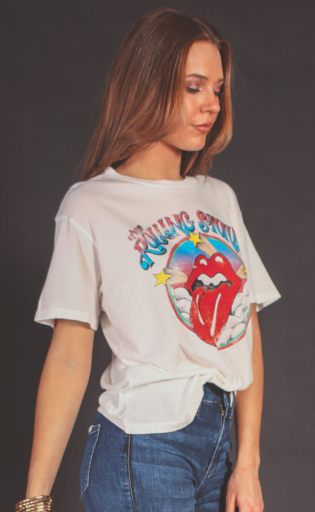 daydreamer: rolling stones clouds and stars boyfriend tee