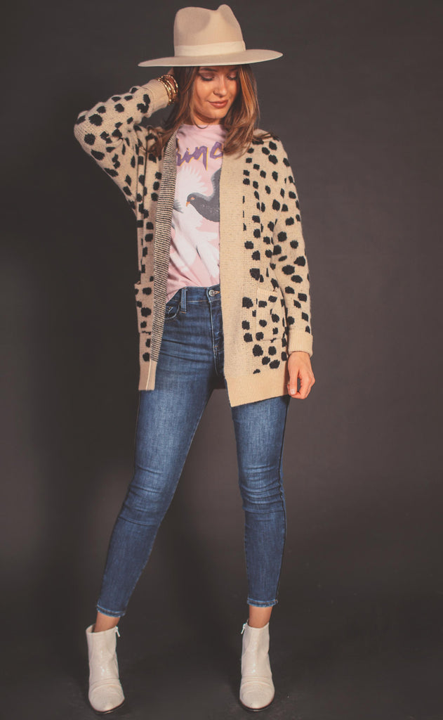 bambi knit cardigan - tan