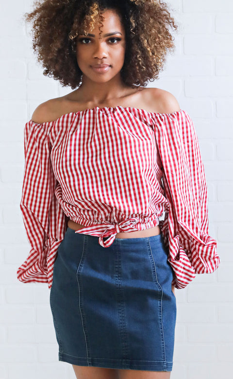 picnic in the park printed top