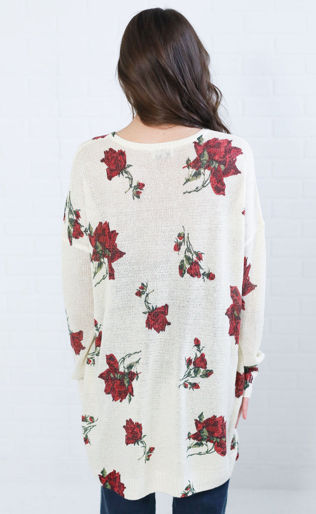 show me your mumu: bonfire sweater - winter rose shimmer knit