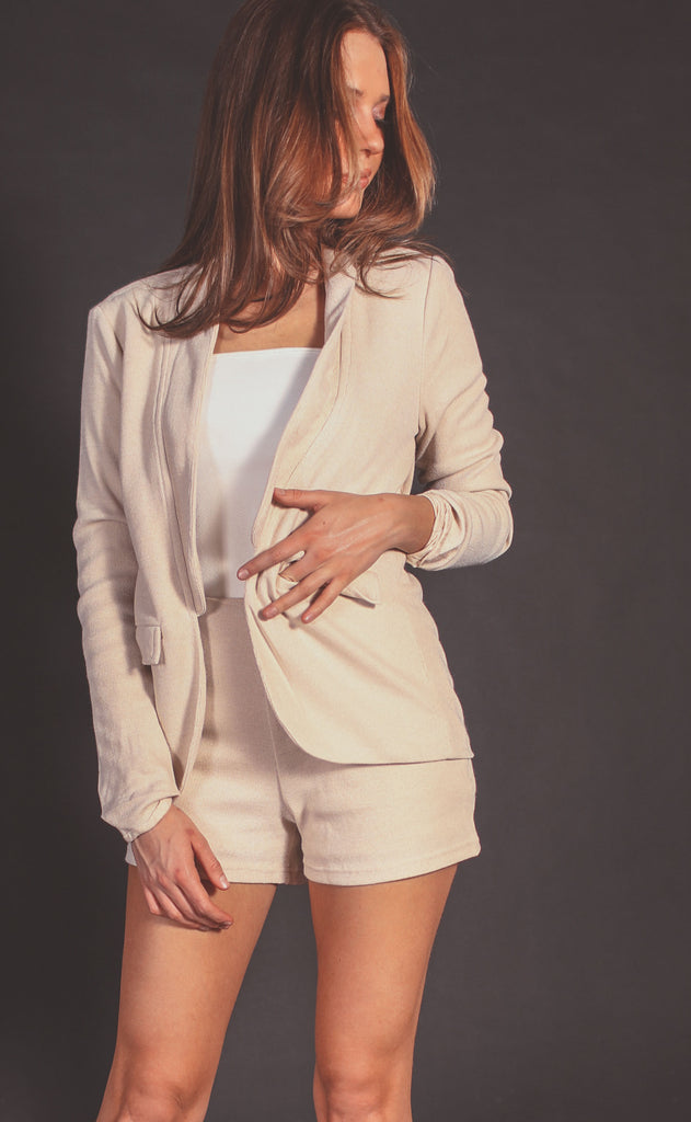 she's chic two piece blazer set