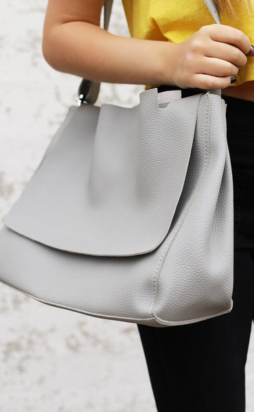 day to day satchel - grey