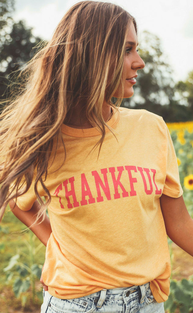 friday + saturday: thankful t shirt