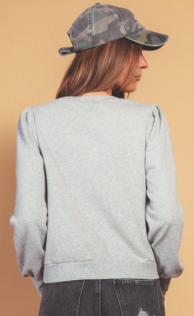 z supply: zoe sweatshirt - heather grey