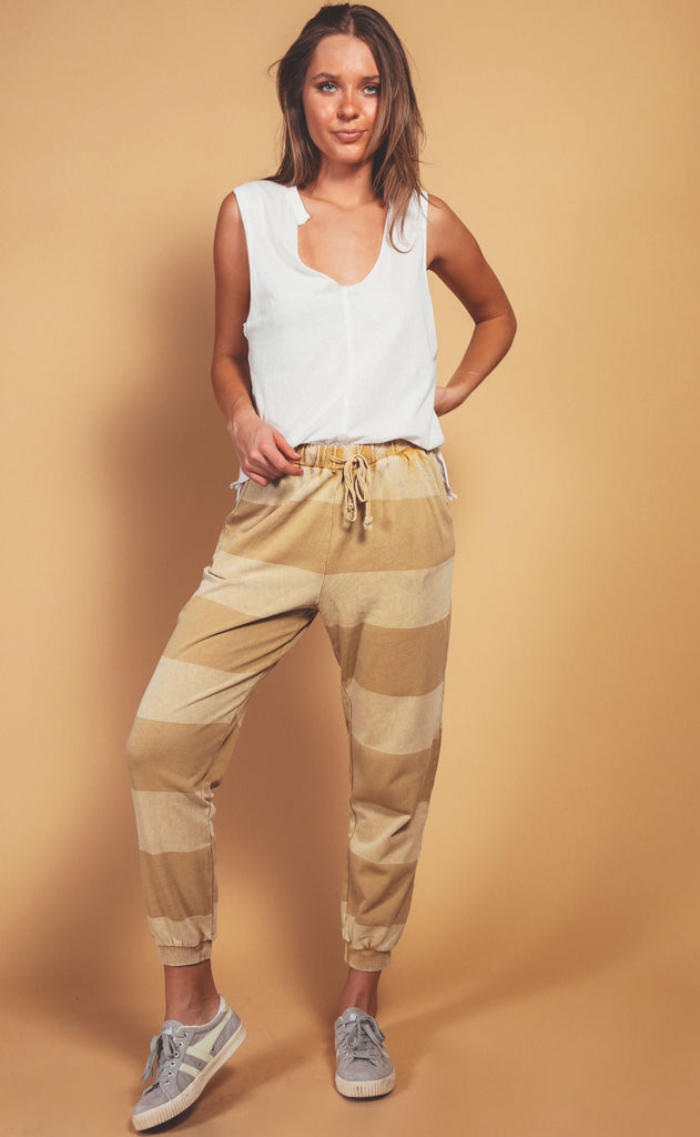 rugby striped lounge pant