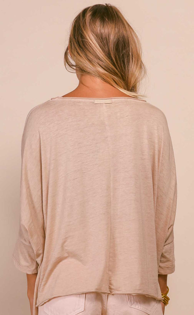 free people: burn baby burn tee - nude