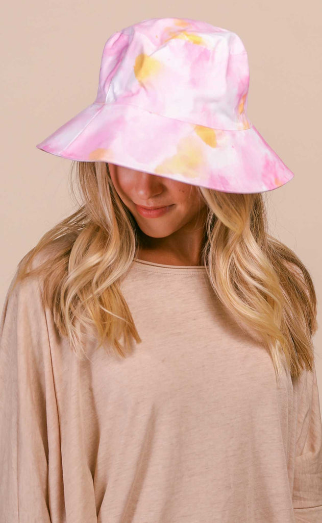 summer sherbert bucket hat - orange