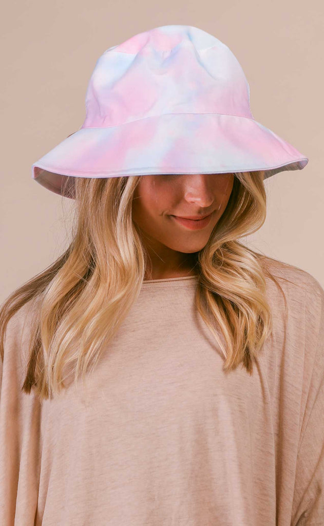 summer sherbert bucket hat - blue