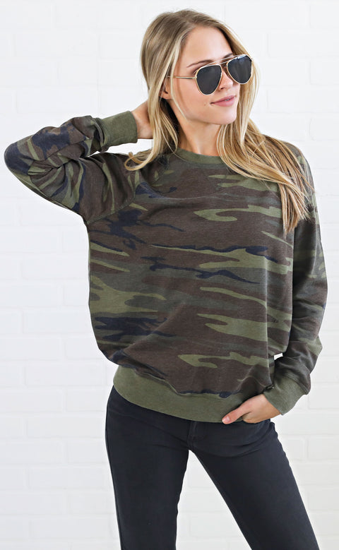 z supply: the camo crew pullover