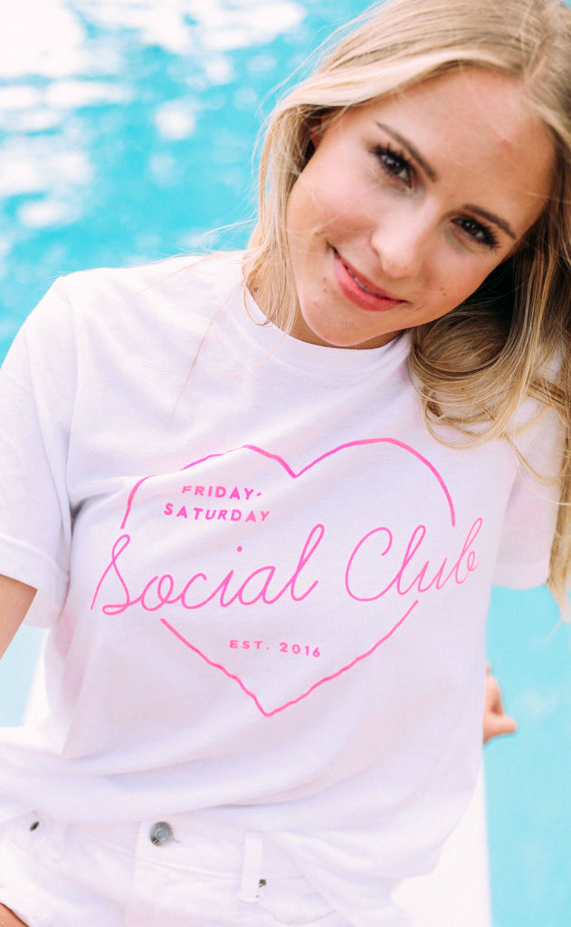 friday + saturday: social club t shirt