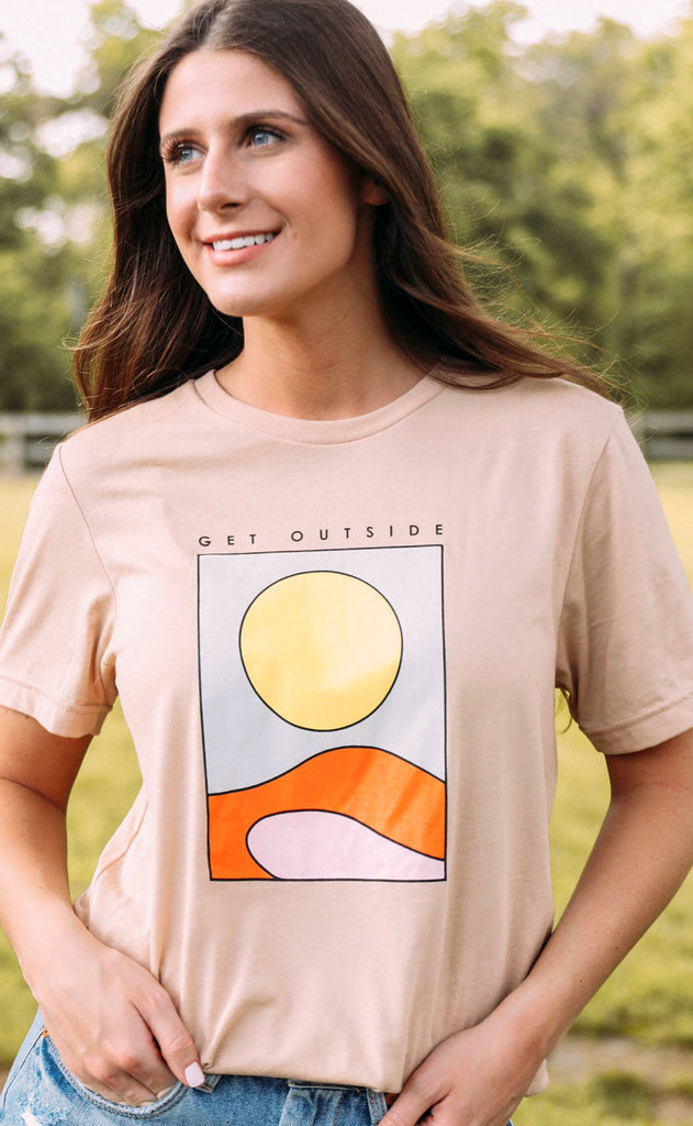 friday + saturday: get outside t shirt