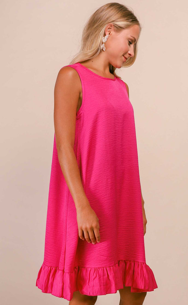 swing swing easy dress - hot pink
