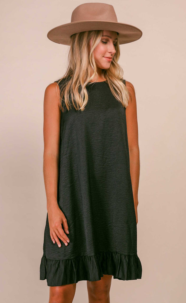 swing swing easy dress - black