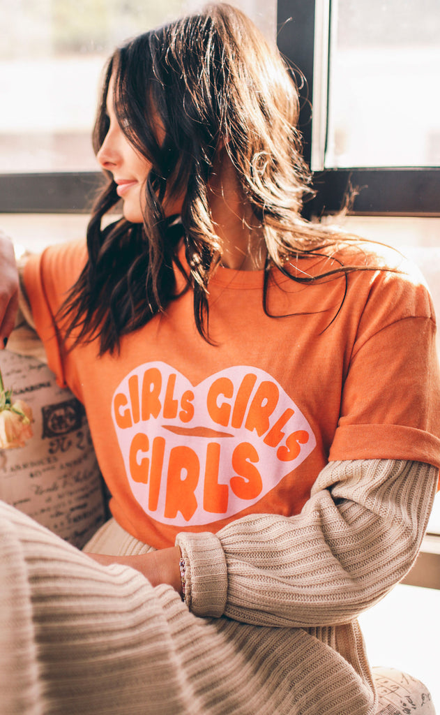 friday + saturday: girls girls girls t shirt